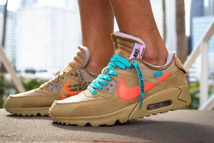 "OFF-WHITE x Nike Air Max 90 ""Desert Ore"". Release Date  Was September ... 8e716366c"