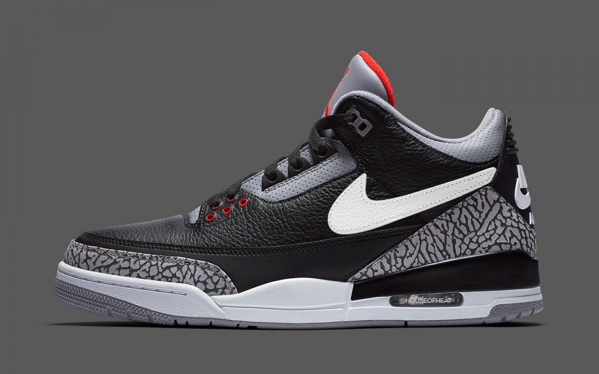 "Air Jordan 3 Tinker to Arrive in ""Black Cement"" for 2019"