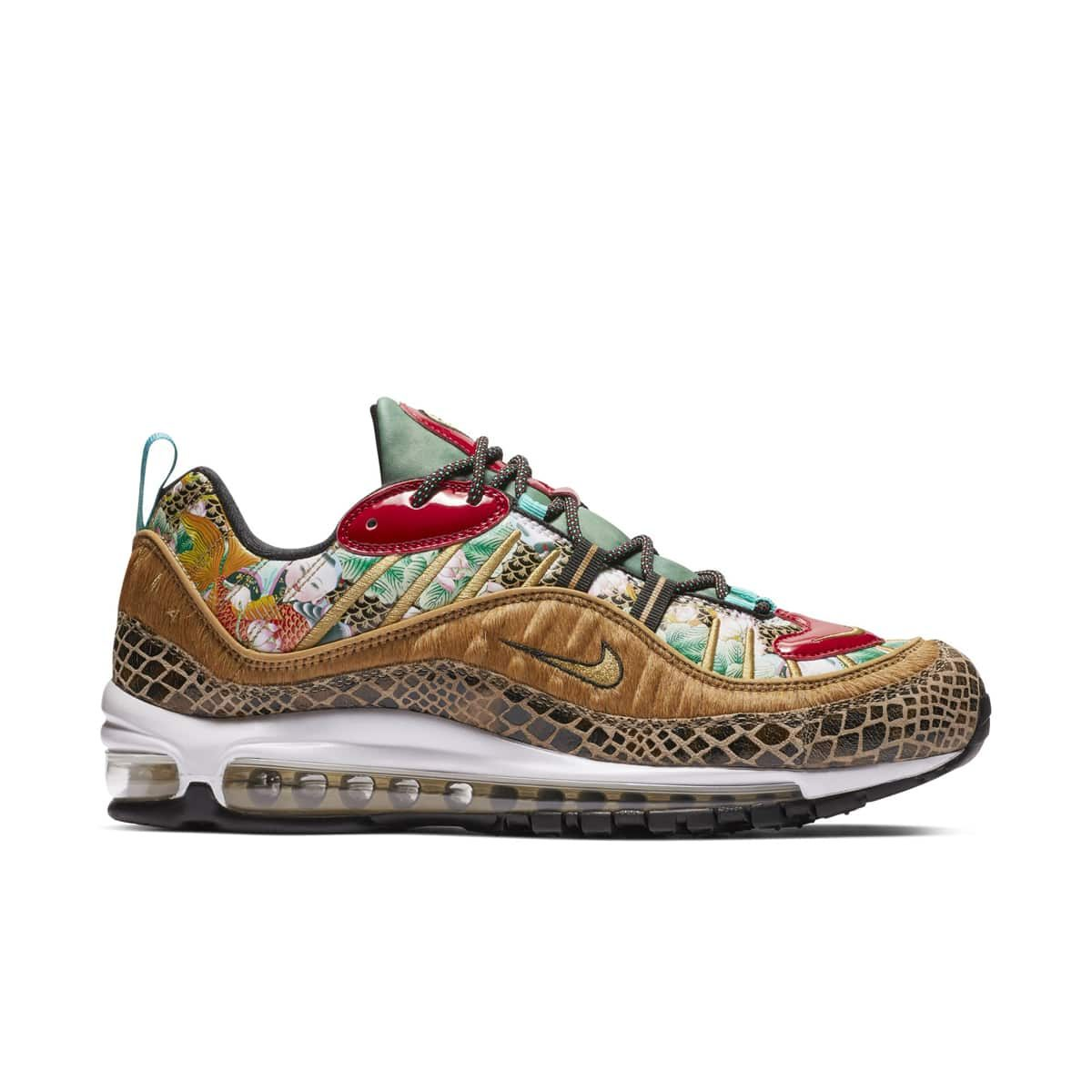 """62d3492c4eaf Nike Air Max 98 """"Chinese New Year"""". Style Code  BV6653-616. Color  Bleached  Coral Bright Crimson-Sail"""