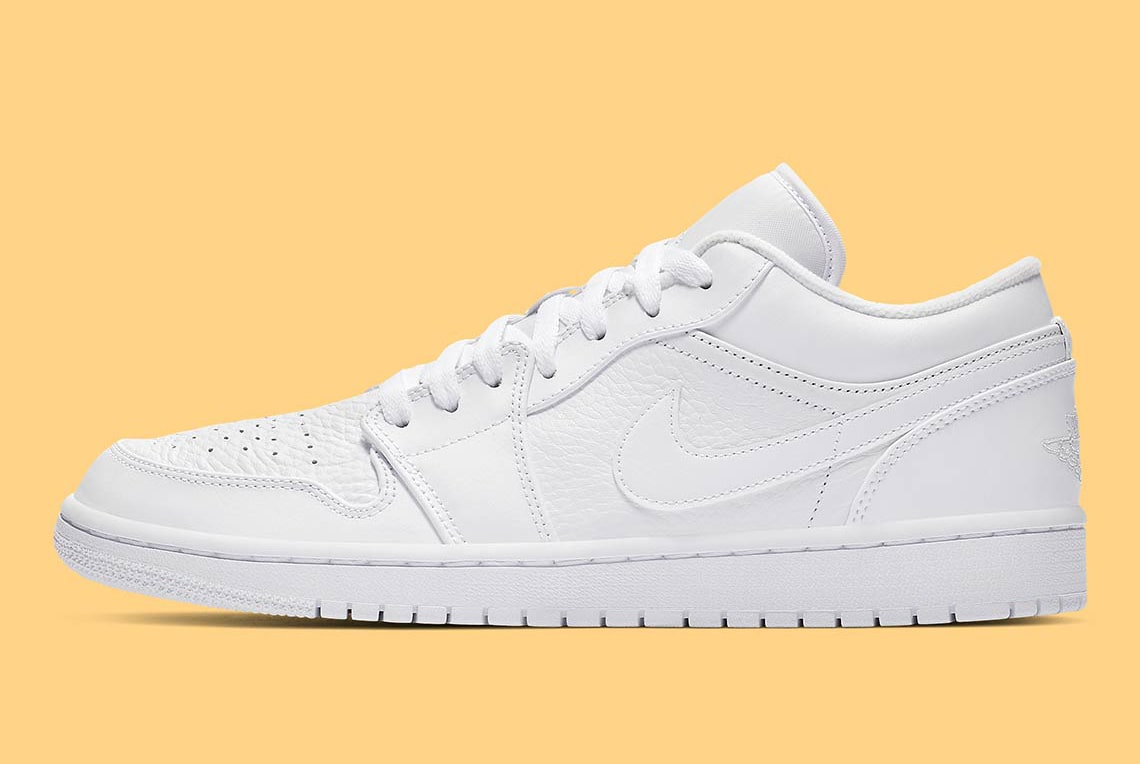 The Air Jordan 1 Low Arrives In Triple White