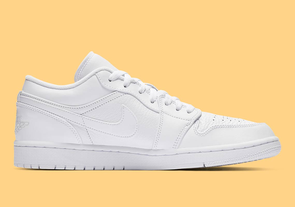 8cbfe535b8cf0a The Air Jordan 1 Low Arrives In Triple White - HOUSE OF HEAT ...