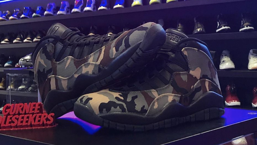 The Woodland Camo Air Jordan 10 Drops August 31st