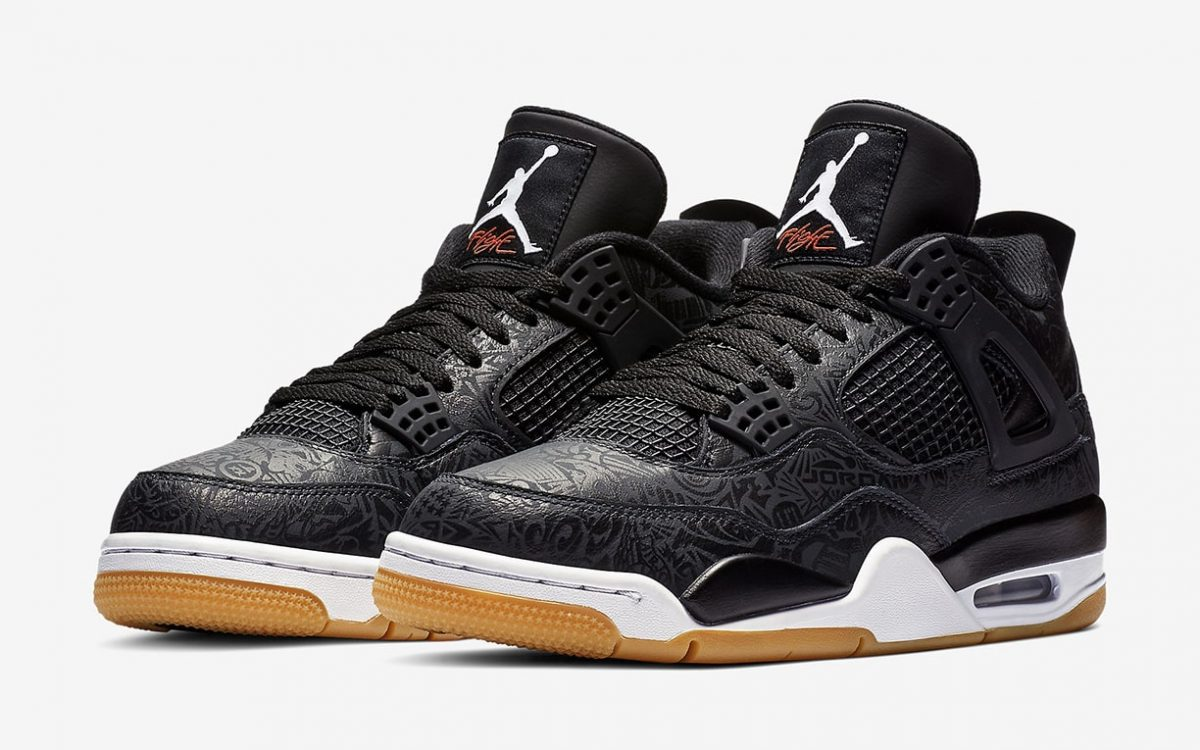"Where to Buy the Black and Gum ""Laser"" Air Jordan 4"