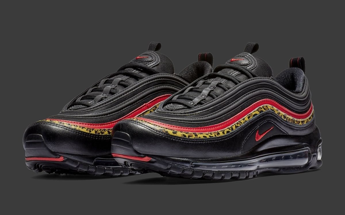 air max 97 rosse e leopardate