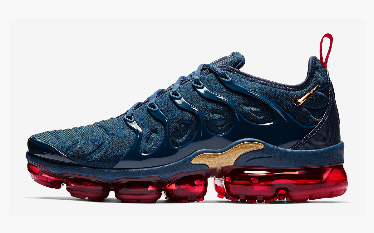 "The VaporMax Plus is the Next Nike to Rock the Iconic ""Olympic"" Colorway"