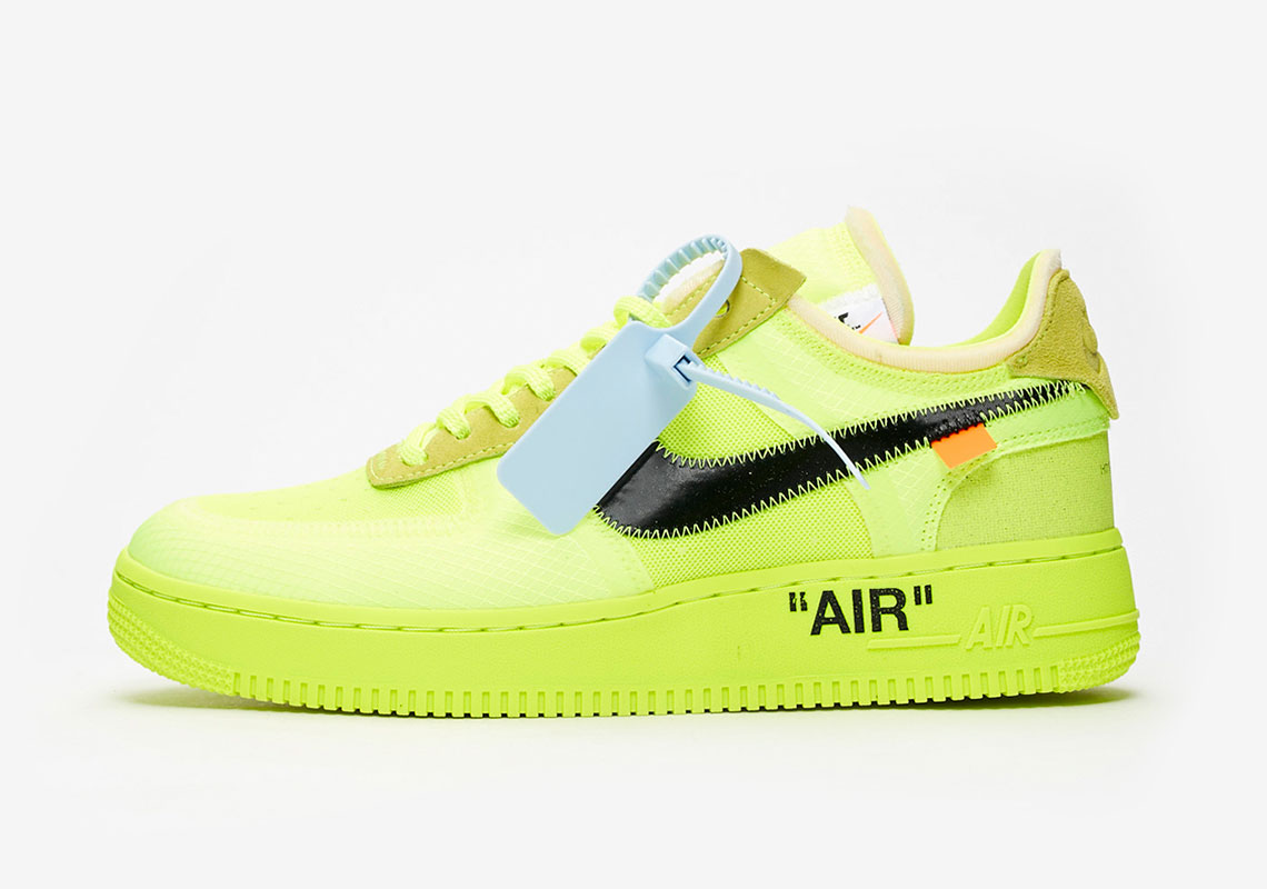 "Where to Buy the OFF-WHITE x Nike Air Force 1 Low ""Volt"""