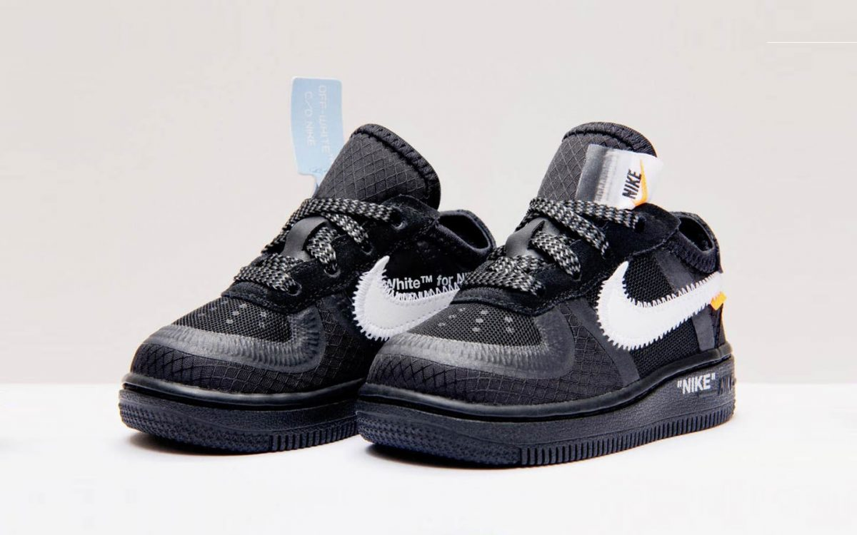 The First OFF-WHITE x Nike Sneaker For Kids Drops Next Week