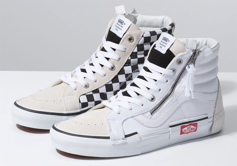 "The Vans Sk8 Hi Re-issue ""Deconstructed"" is Back in White and Black"
