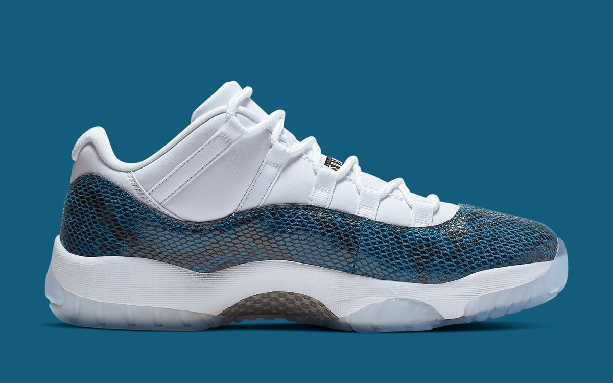 Air Jordan 11 Low Blue Snakeskin CD6846-102