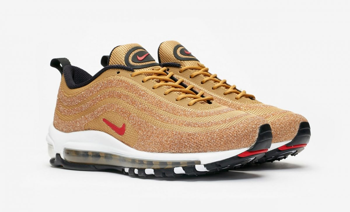 Detailed Looks at the Golden Swarovski Air Max 97