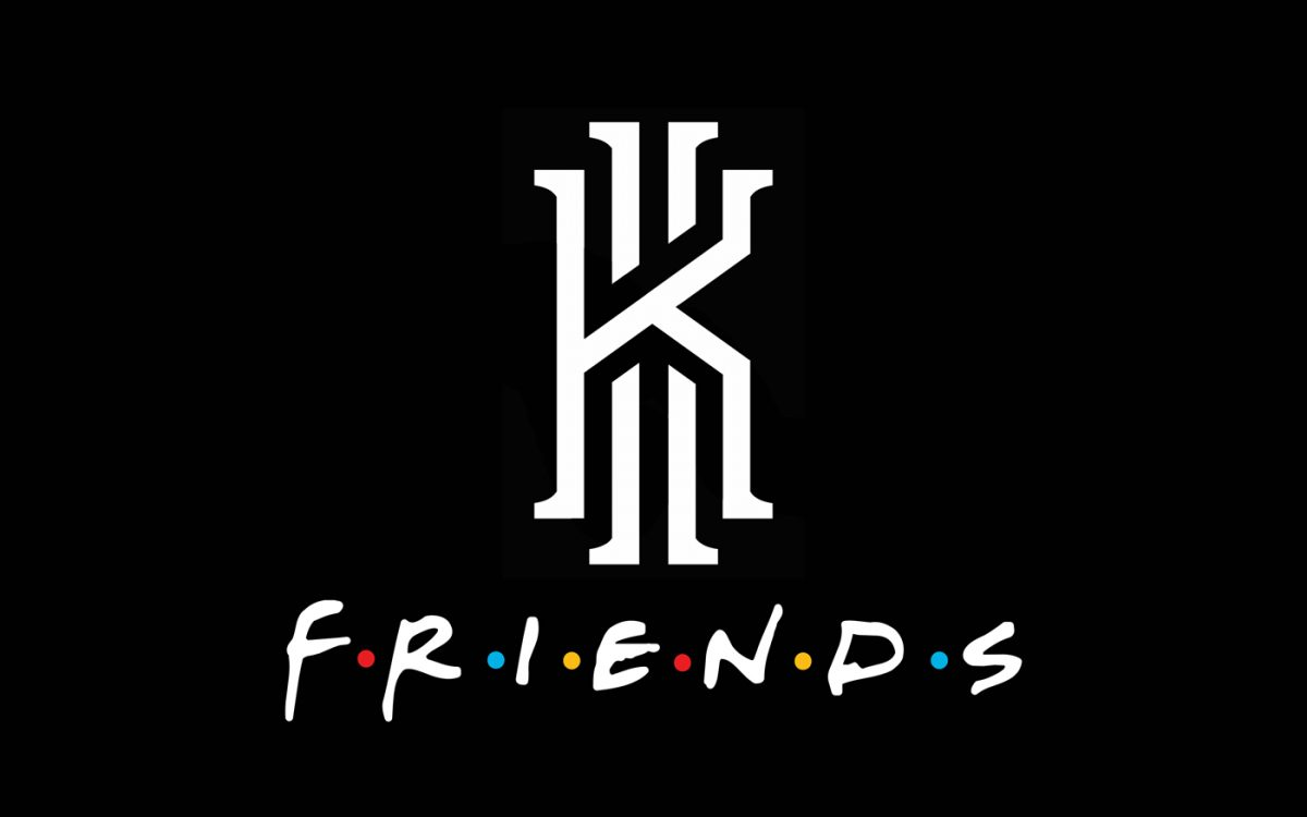 "Kyrie and TV's ""Friends"" Partner for one of the Weirdest Collaborations We've Ever Seen"
