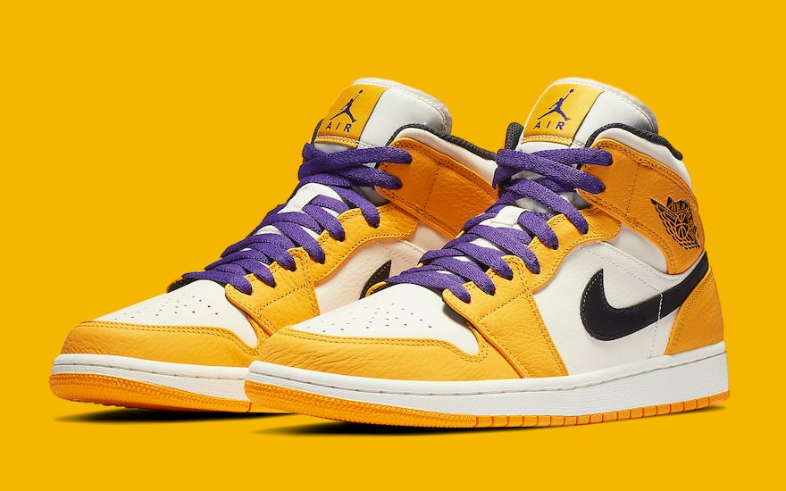 83216f6d205b Lakers Colors Hit the Air Jordan 1 Mid - HOUSE OF HEAT