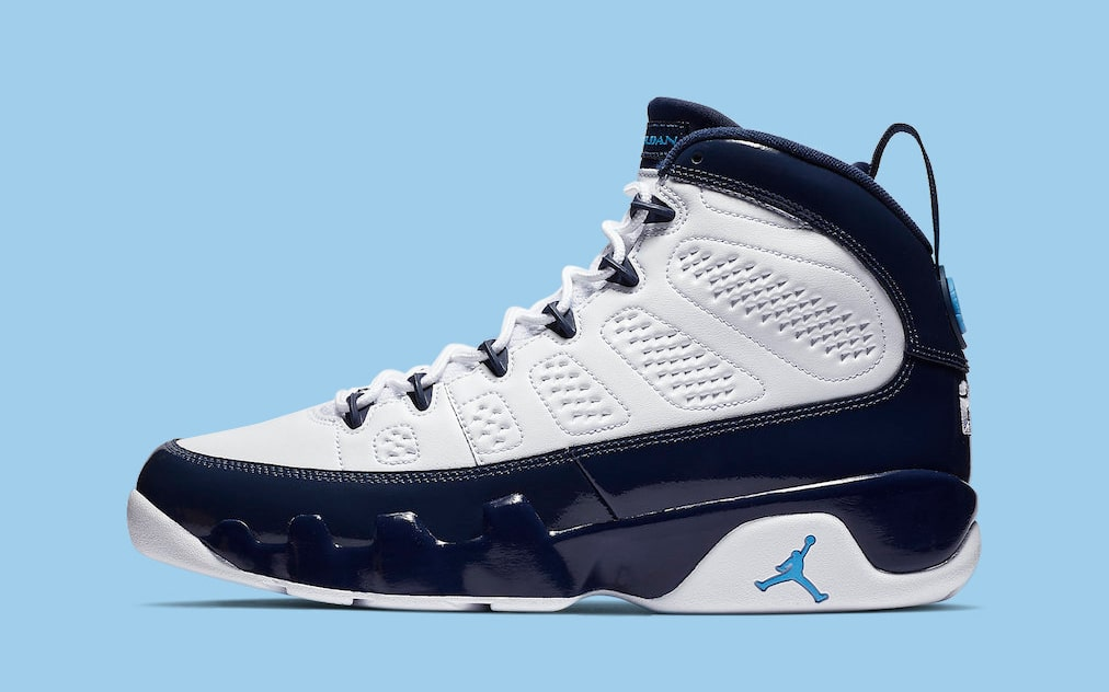 "Official Looks at All-Star Weekend's ""UNC"" Air Jordan 9"