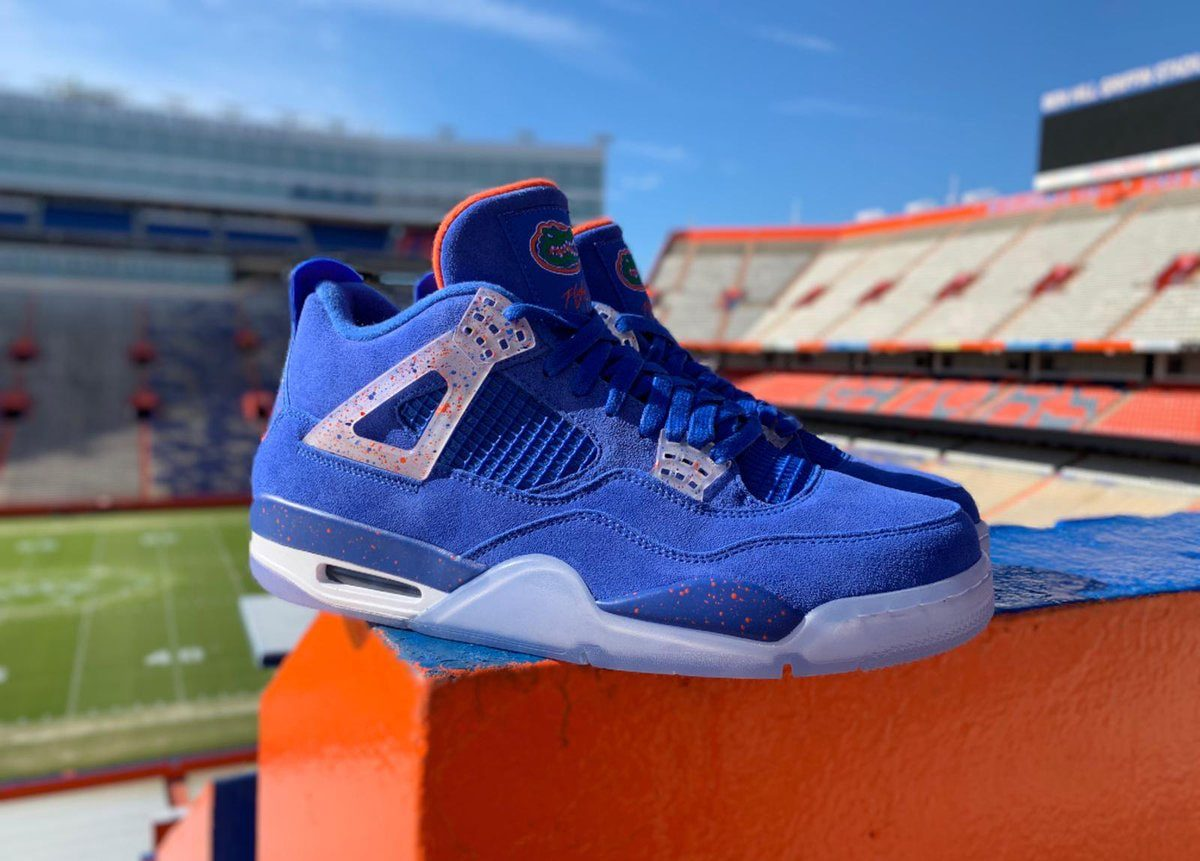 online retailer f484f a41c1 Florida Gators Football Air Jordan 4 PE is Limited to Just ...