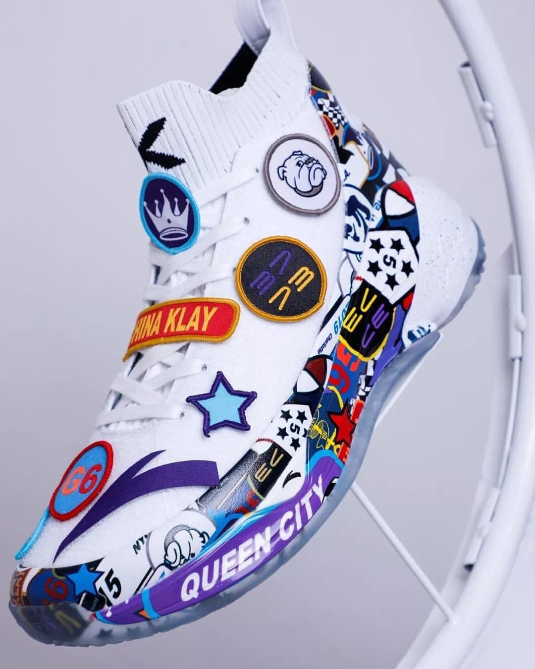 "Klay Thompson's ""All-Star"" Anta KT4 Rocks Removable Patches"