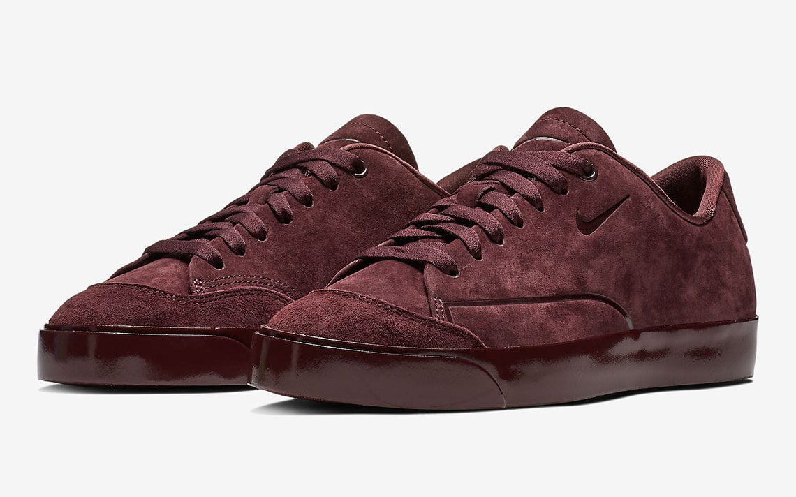 Burgundy Suede Sauces the Blazer City Low