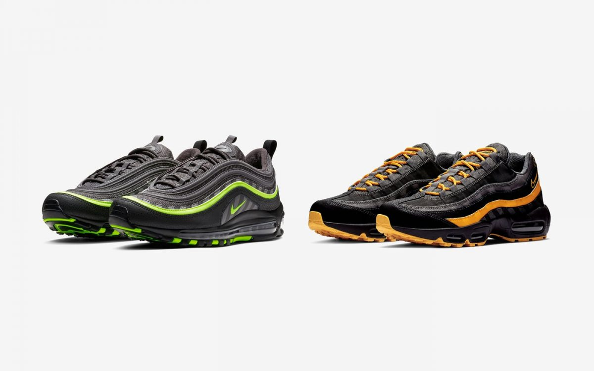 Nike Air Max 97 I 95 Pack Black Green | BV6057 001