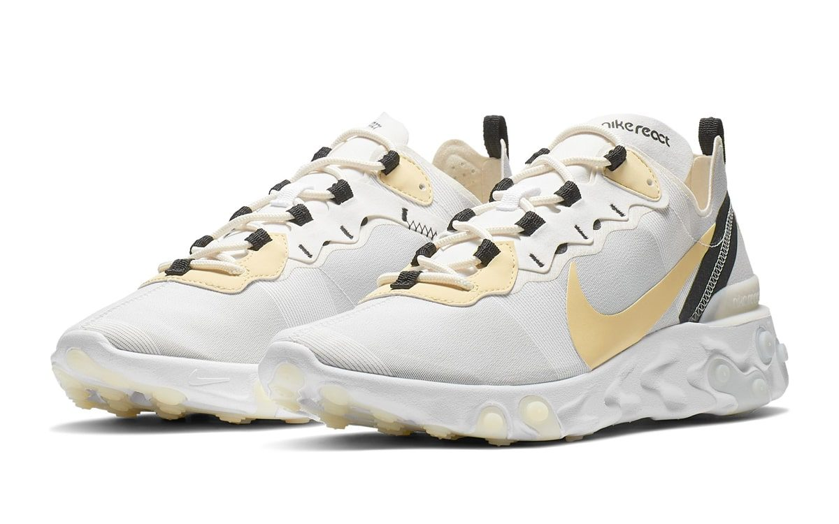 The Next Nike React Element 55 Sports a Soft Yellow Swoosh