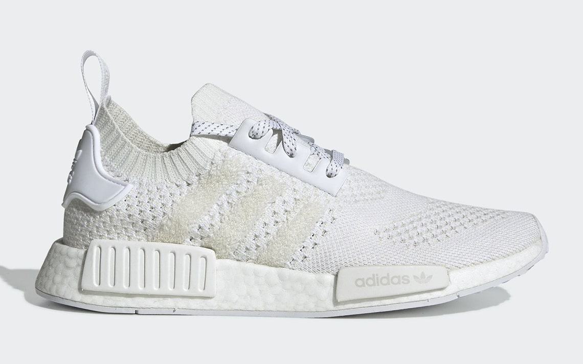 "The adidas NMD R1 ""Triple White"" Rocks a Well-Known Weave"