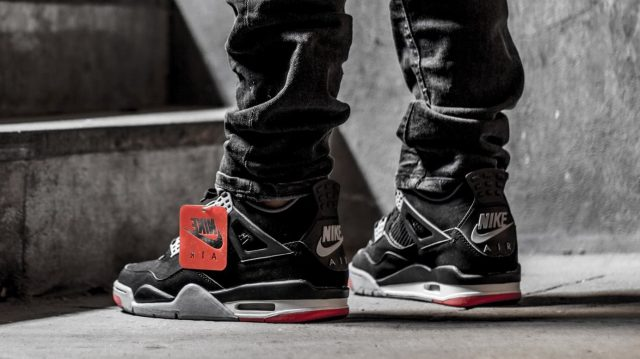 """506e83456b65 The Nike Air-Branded """"Bred"""" Air Jordan 4 Will Now Release on May"""