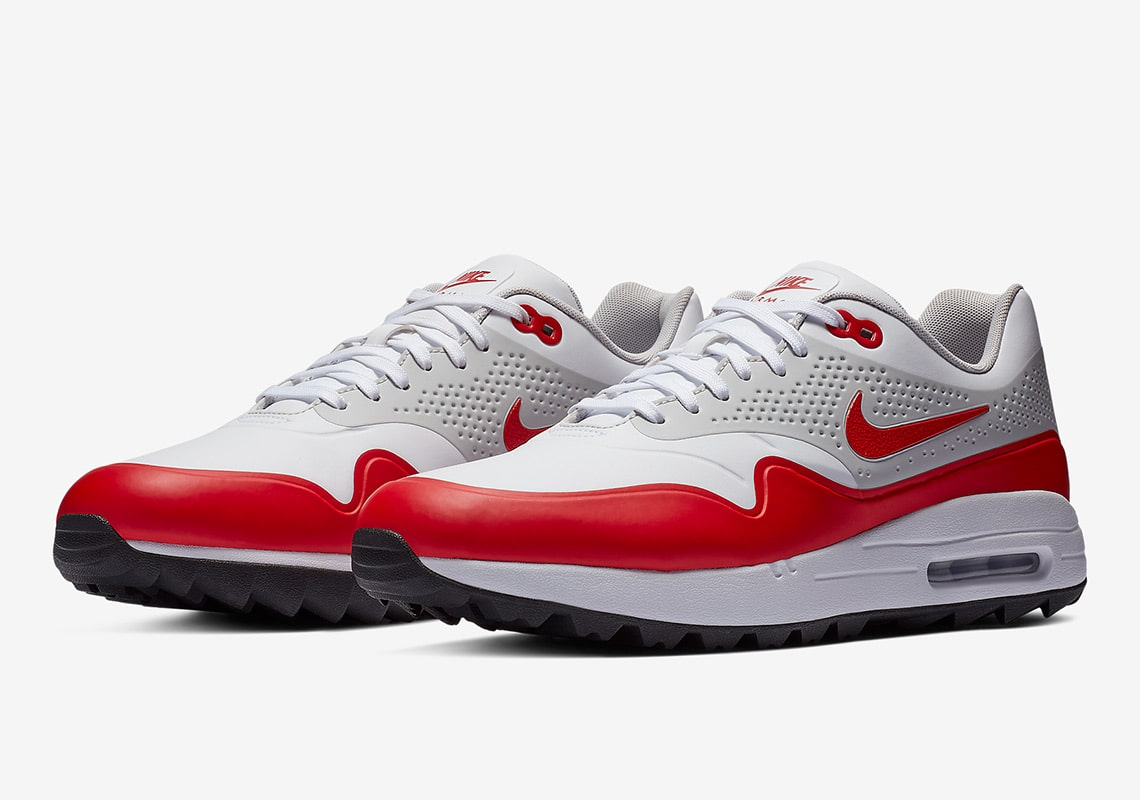 new products 8cb48 a67c0 Nike Air Max 1 Golf. Style Code  AQ0863-100. Color White Neutral Grey-Sport  Red