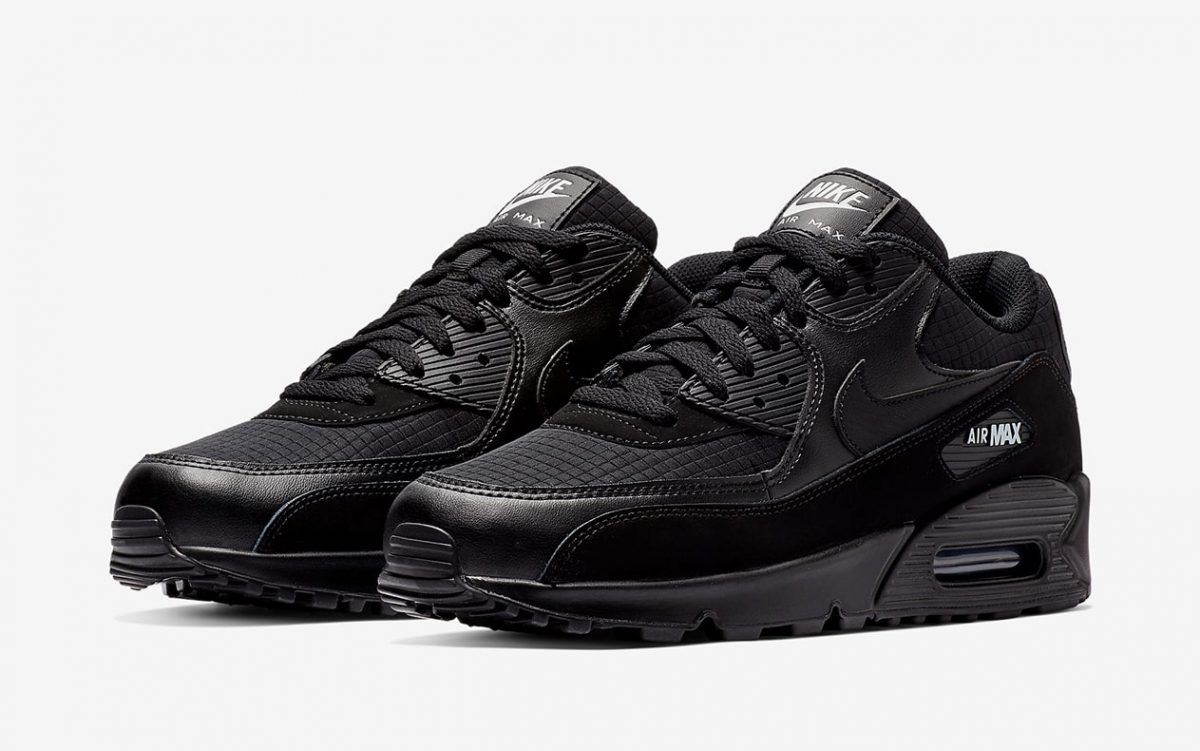 Available Now // Nike Air Max 90 Essential in Basic Black And ...