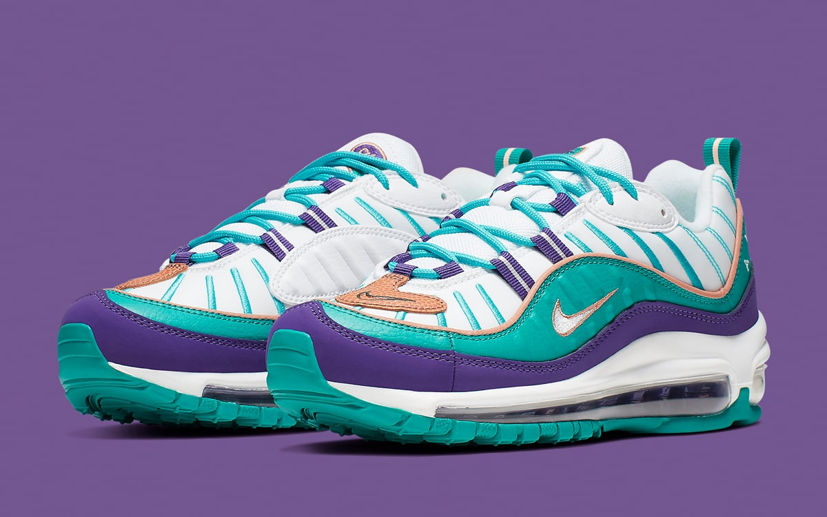 on sale 7b2d1 125ad These Air Max 98s Come Inspired By Throwback Hornets Jerseys ...