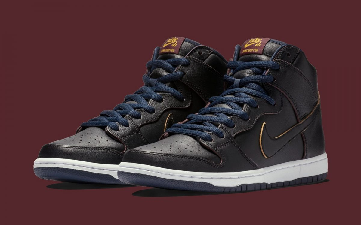 "Official Looks at the ""Cleveland Cavaliers"" NBA x Nike SB Dunk High"