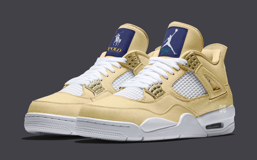 "quality design 1f7a3 ac14a Concept Lab // Ralph Lauren x Air Jordan 4 ""Polo Pack ..."