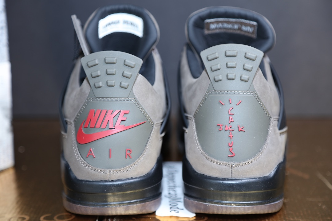 premium selection cfc3f 9596f Detailed Looks at the Olive Travis Scott x Air Jordan 4 ...