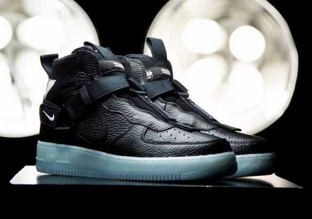 Black Nike Air Force 1 Mid 07 L.V.8 Utility Pack (With