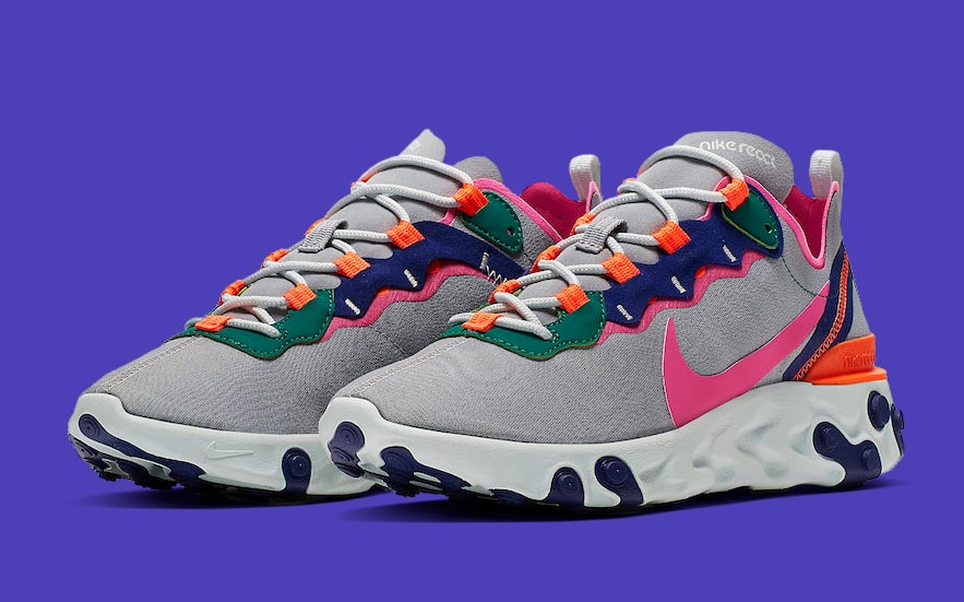 check out 21a63 9bb5f The Nike React Element 55 Goes Full 90s