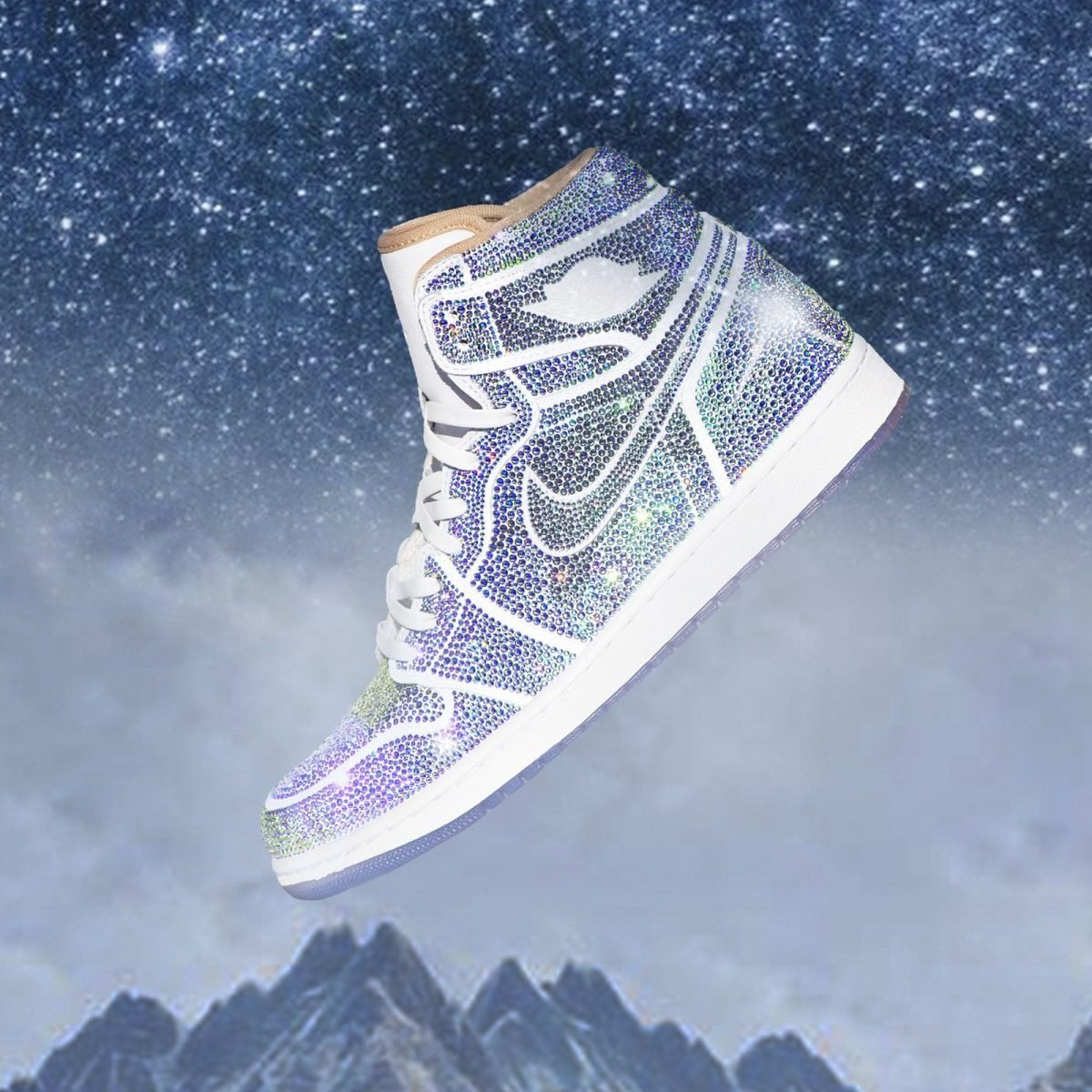 Dan Life Decked-Out an Air Jordan 1 with Over 15,000 Crystals