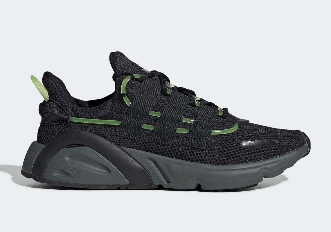 The adidas LXCON is Lookin' Mean in Black 'n' Green