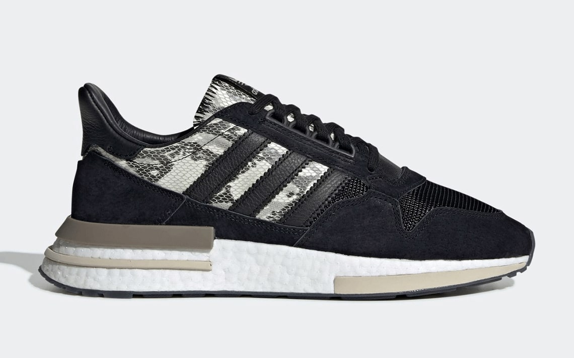 Available Now // adidas ZX 500 RM in Black Suede and Snakeskin