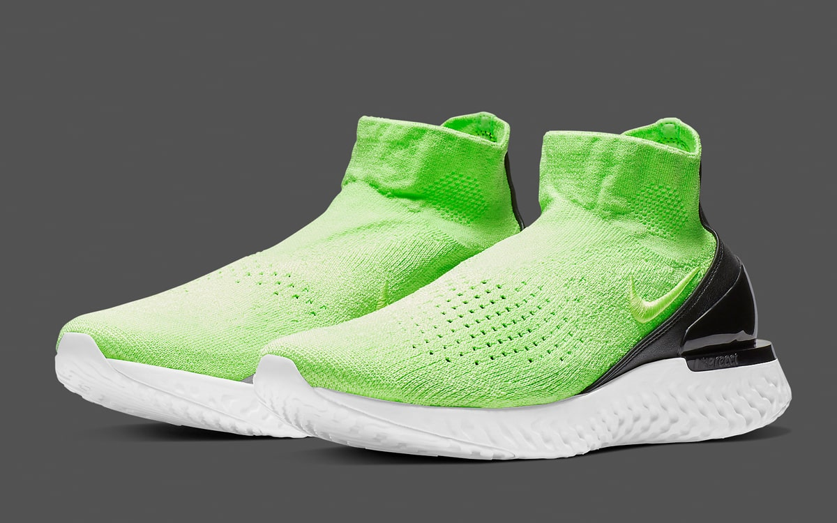 """2ff28550e82036 The Nike Rise React Flyknit """"Lime Blast"""" is on the Way! - HOUSE OF ..."""