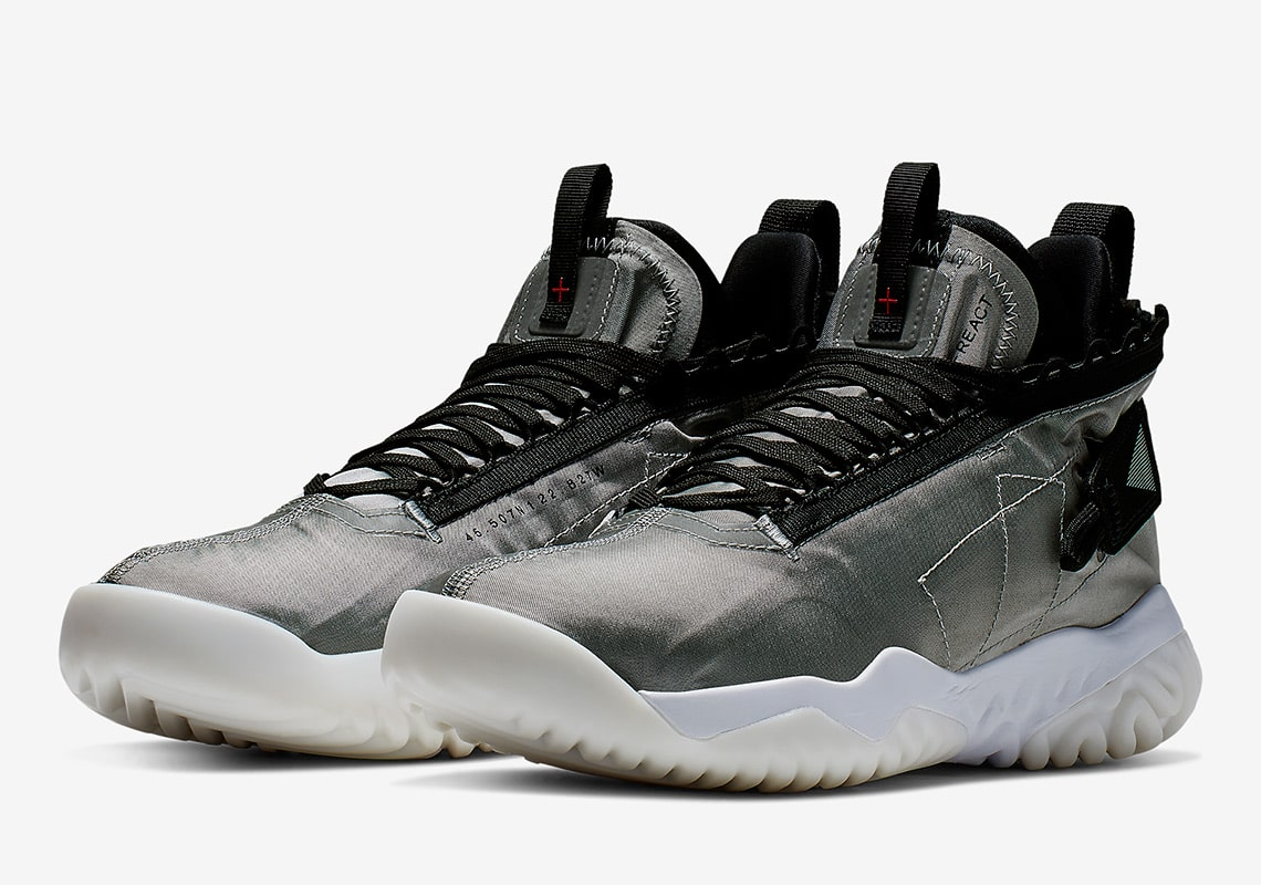 "Official Images of the ""Metallic Silver"" Jordan Proto React"