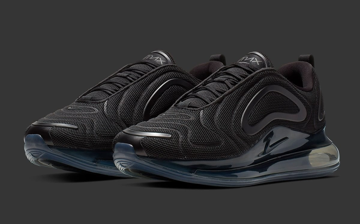 Nike Air Max 720 Triple Black Running Shoes AO2924 007