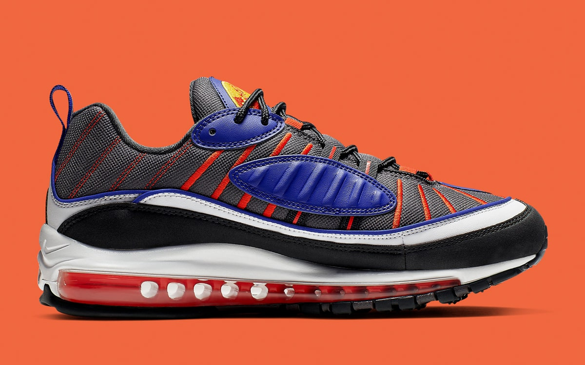 lowest price ff5e9 8dc4c Available Now // The Air Max 98 Kicks On in Knicks Colors ...