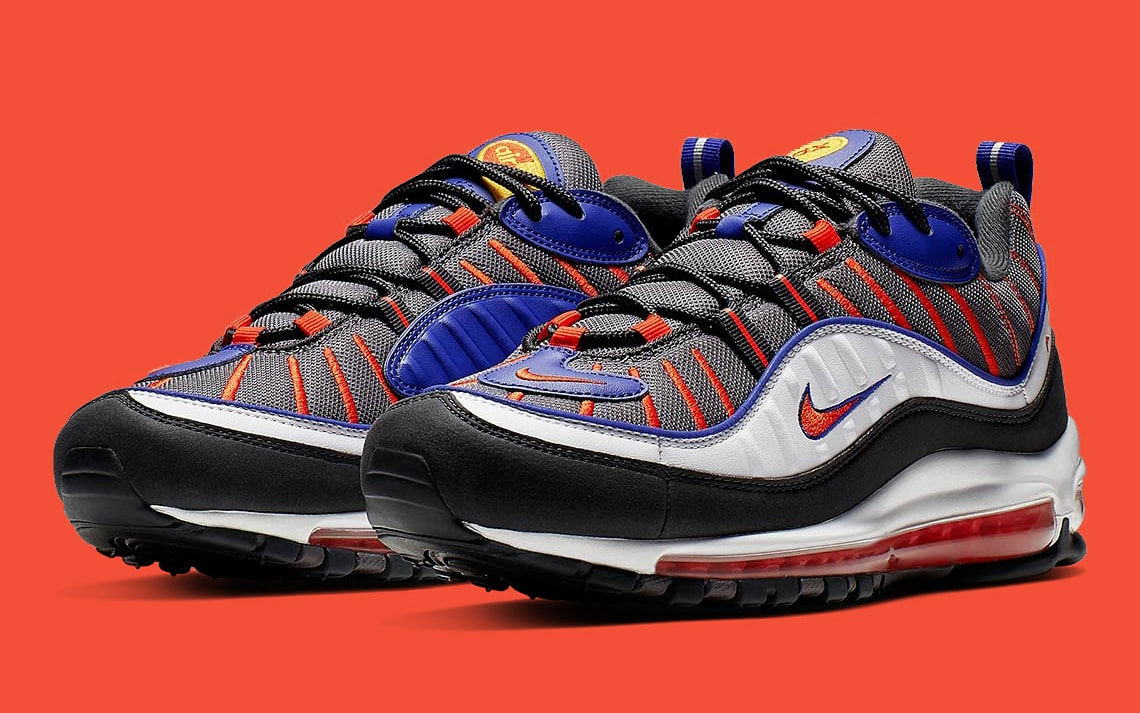 989d7b12ed3812 The Air Max 98 Kicks On in Knicks Colors - HOUSE OF HEAT