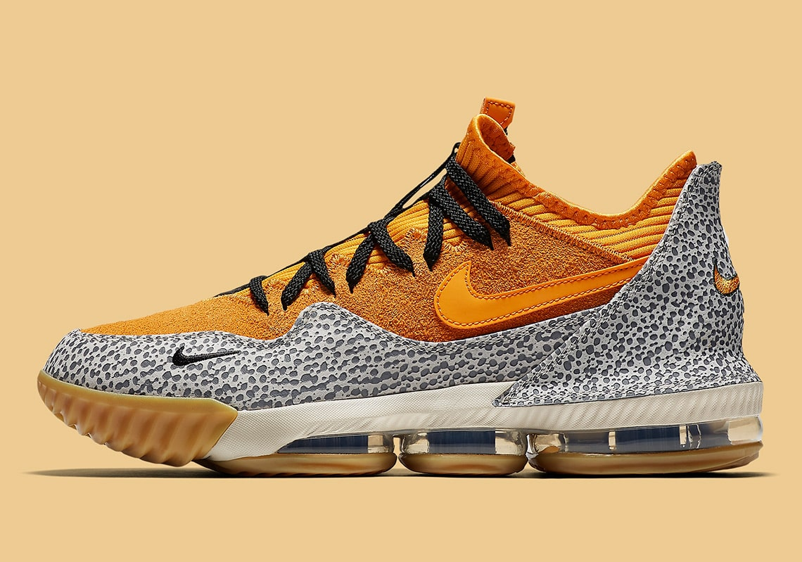 "The Nike LeBron 16 Low ""Safari"" is an Official atmos Collaboration"