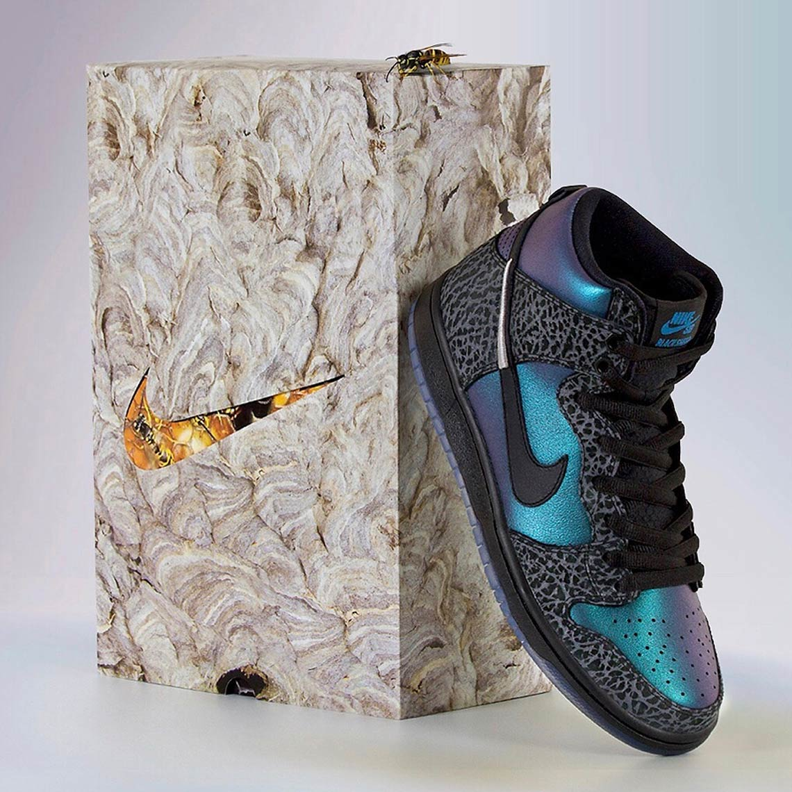 "Black Sheep Reveals Exclusive Packaging For The Nike SB Dunk ""Black Hornet"""