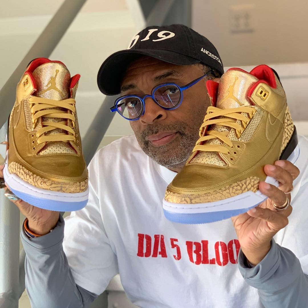 Spike Lee is Stepping Out to the Oscars in Golden Jordan 3 JTH PEs
