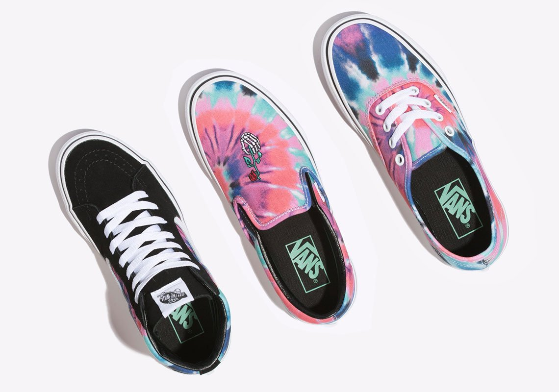 "This Vans ""Tie Dye"" Pack Pays Tribute to HOF Rockers the Grateful Dead"