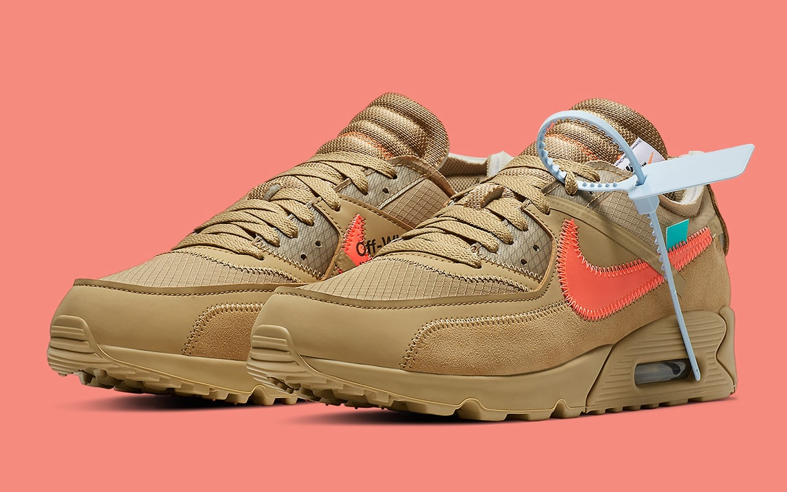 Where To Buy The Off White X Nike Air Max 90 Desert Ore House Of 28c62dd956