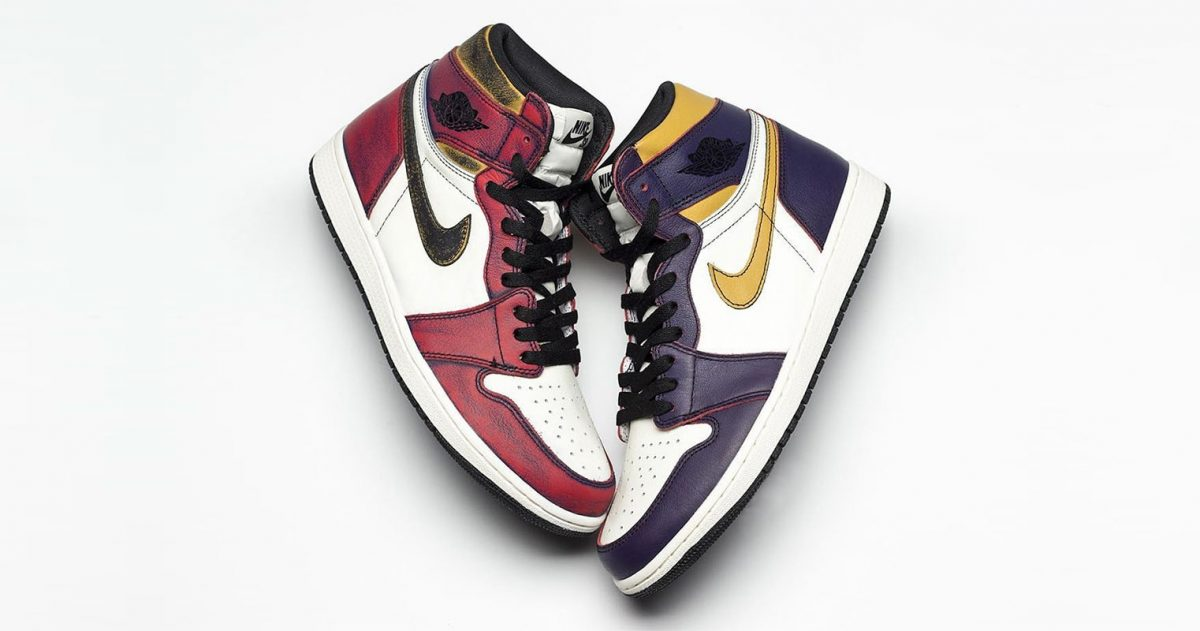 "The ""Lakers"" Air Jordan 1 OG x Nike SB Reveals a Hidden ""Chiacgo"" Colorway"