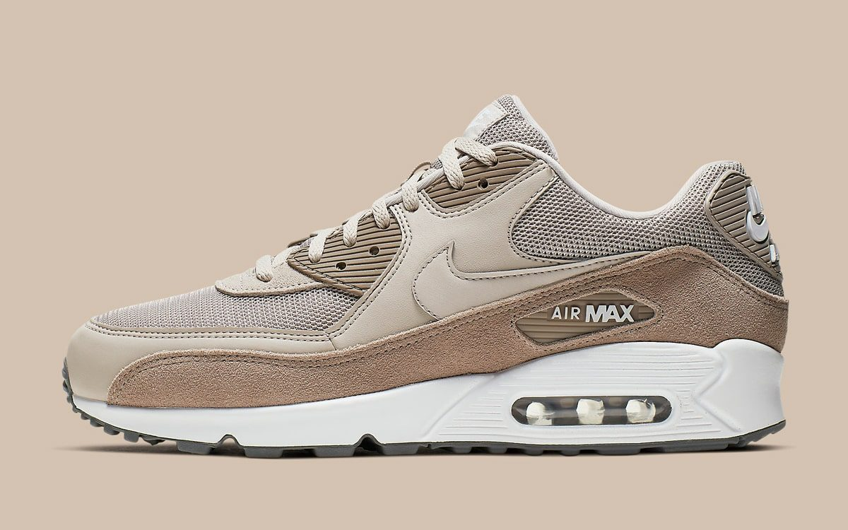 "buy online 8c904 dec9f The Nike Air Max 90 ""Sepia Stone"" Arrives with Luxe Plush Suede"