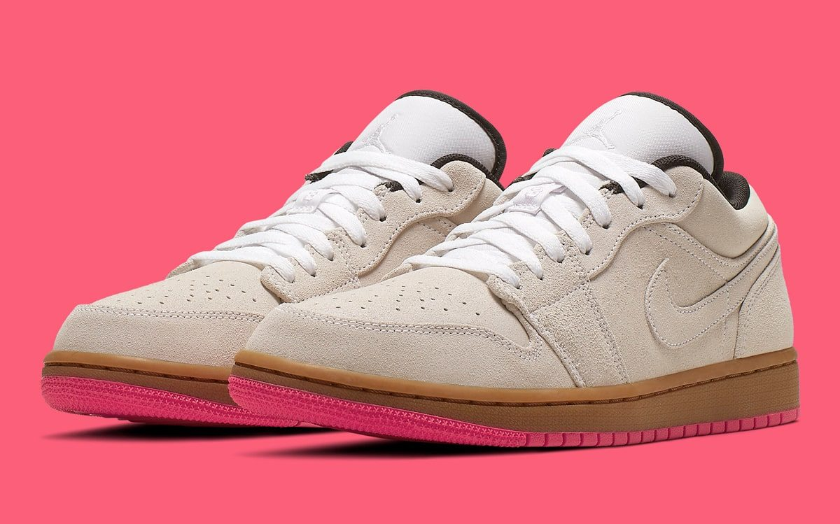 The Air Jordan 1 Low Arrives for Summer with Bright Pinks and Beige Suedes