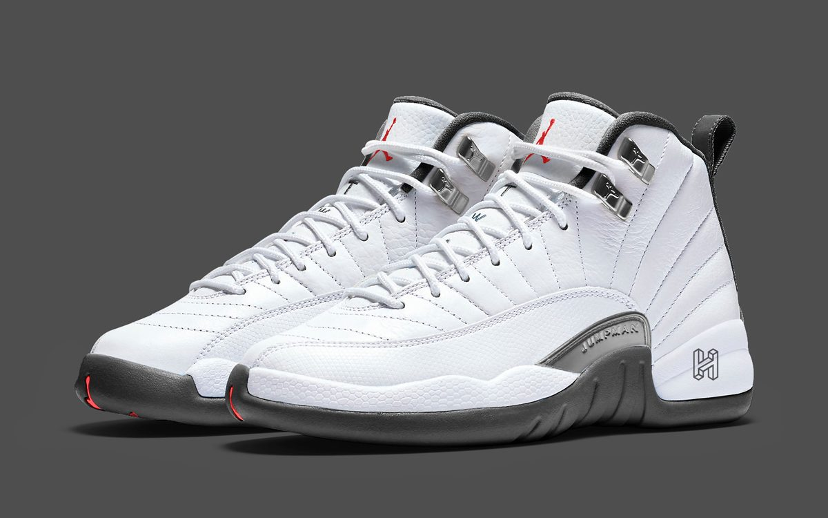 There's a White and Grey Jordan 12 on the Way for Holiday 2019