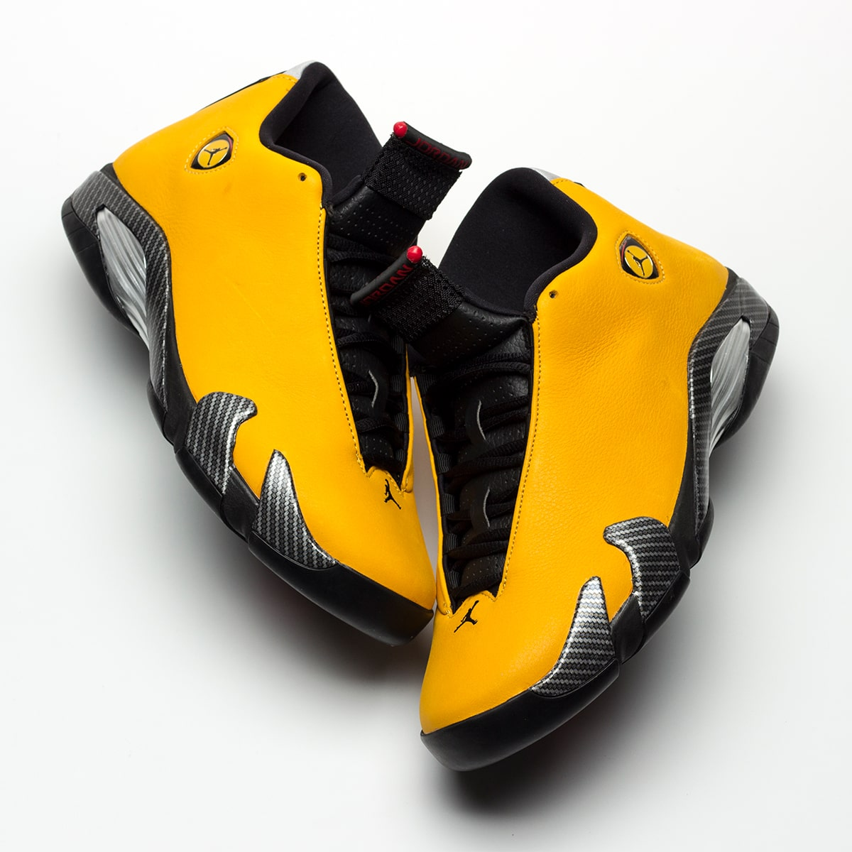 "794c35bf395 Images via @HanzuYing. First Looks //. Where to Buy the Air Jordan 14 SE  ""Yellow Ferrari"" Release Date"